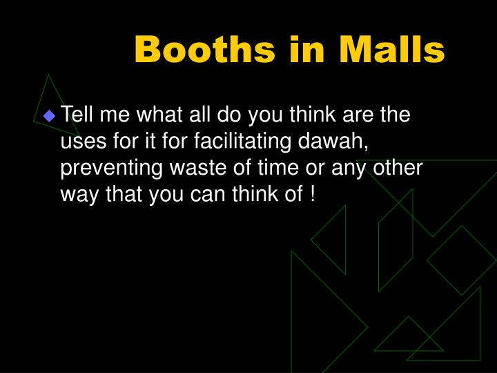 Booths in Malls