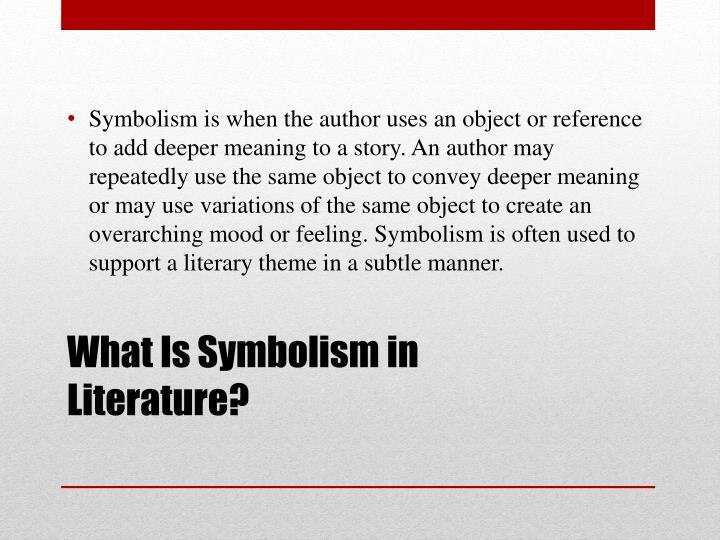 Ppt Symbolism Powerpoint Presentation Id3123962