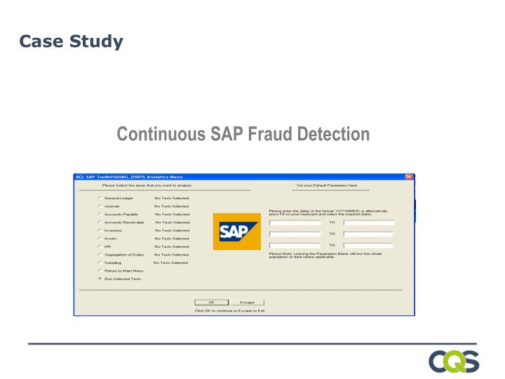 Continuous SAP Fraud Detection