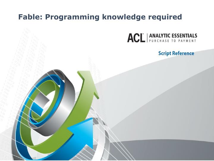 Fable: Programming knowledge required
