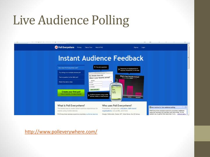 Live Audience Polling