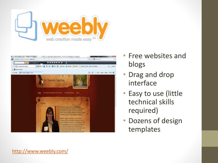 Free websites and blogs