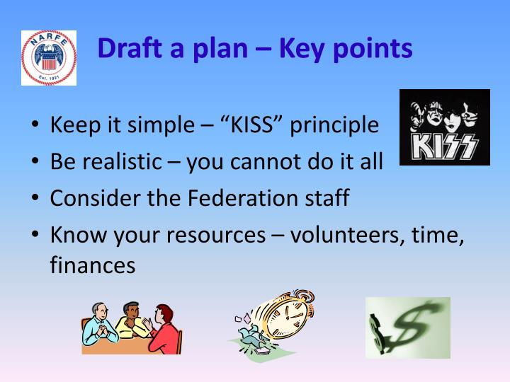 Draft a plan – Key points
