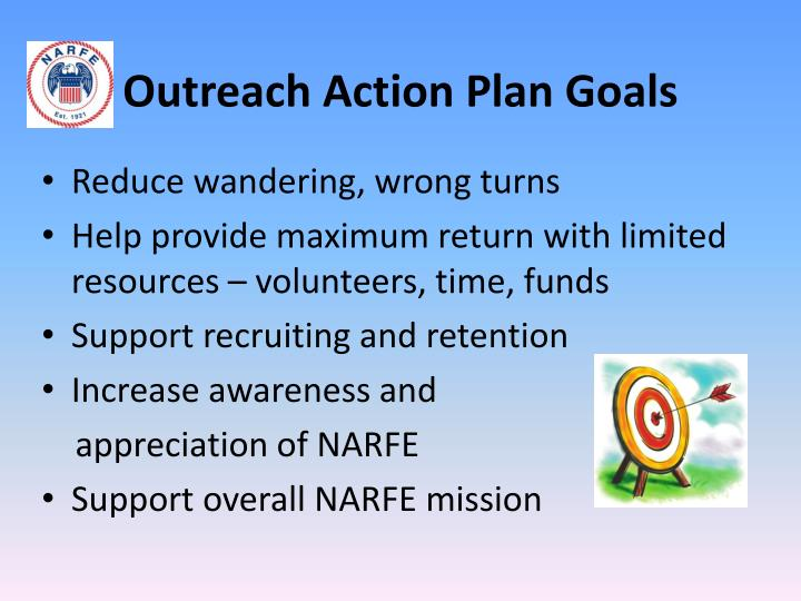 Outreach action plan goals