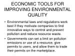 economic tools for improving environmental quality1