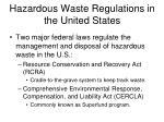 hazardous waste regulations in the united states