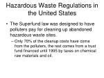 hazardous waste regulations in the united states1