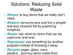 solutions reducing solid waste
