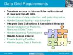 data grid requirements