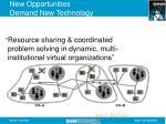 new opportunities demand new technology