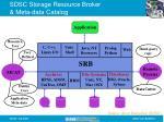 sdsc storage resource broker meta data catalog
