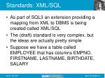 standards xml sql