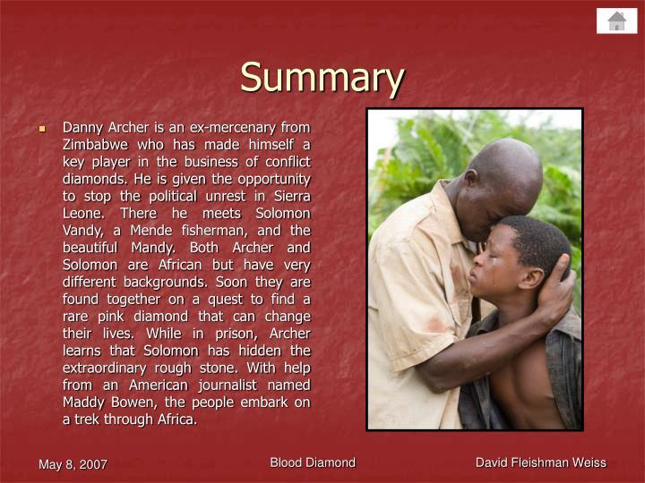 blood diamond summary