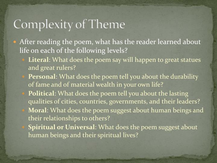 Complexity of Theme