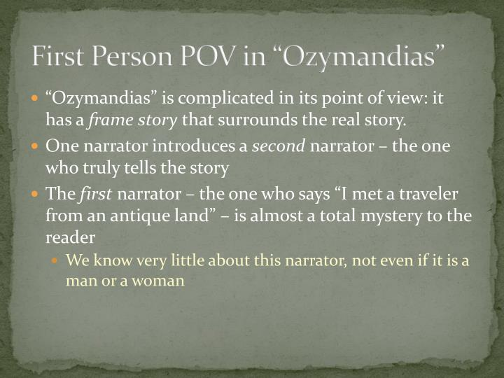 "First Person POV in ""Ozymandias"""