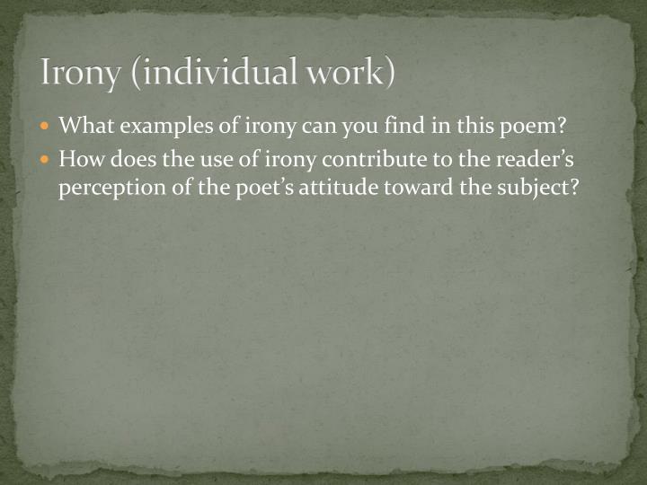 Irony (individual work)