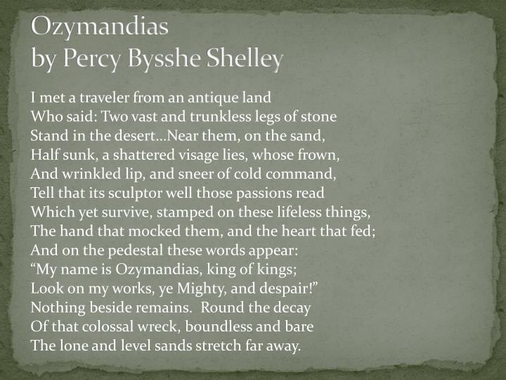 Ozymandias by percy bysshe shelley