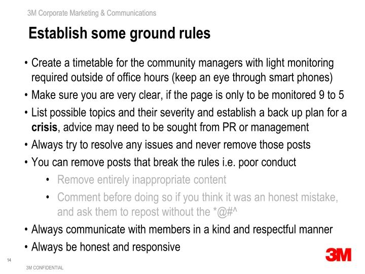 Establish some ground rules