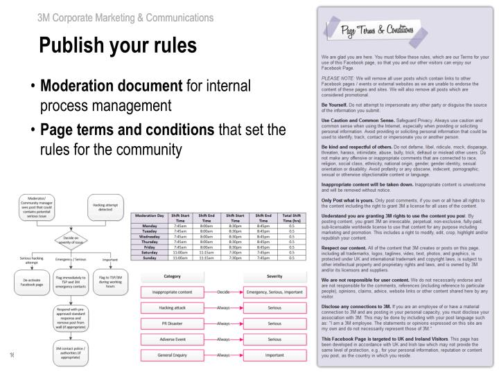 Publish your rules