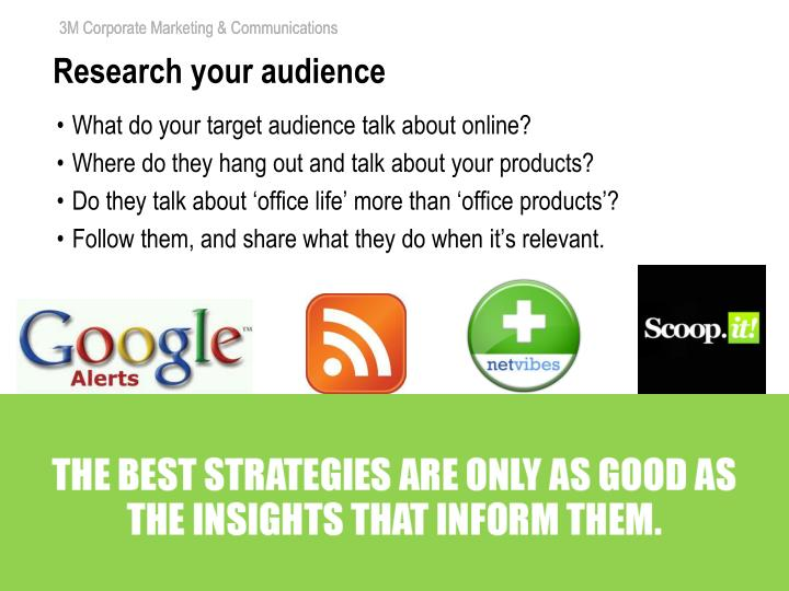 Research your audience