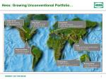 hess growing unconventional portfolio
