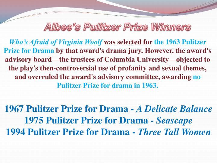 Albee's Pulitzer Prize Winners