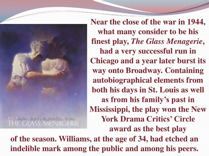 Near the close of the war in 1944, what many consider to be his finest play,