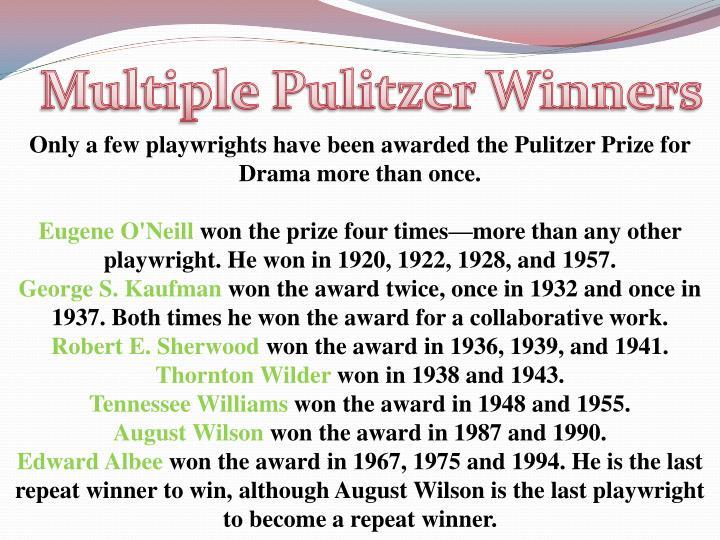 Multiple Pulitzer Winners