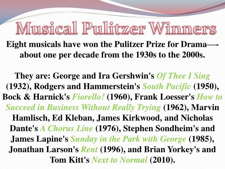 Musical Pulitzer Winners