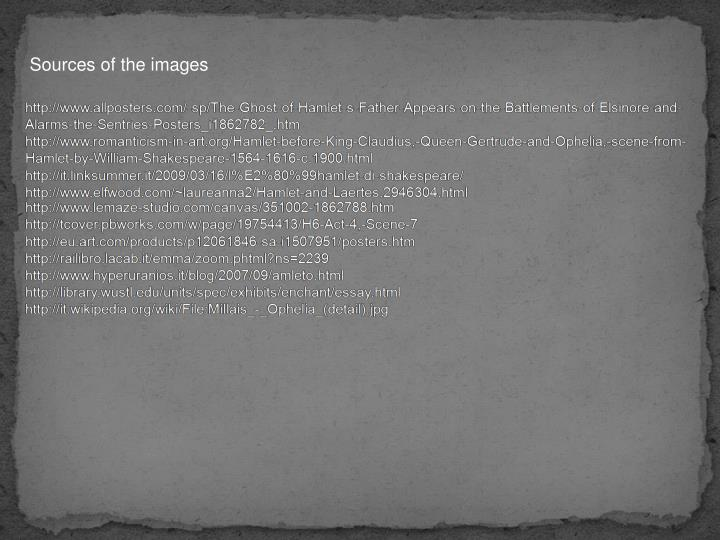 Sources of the images