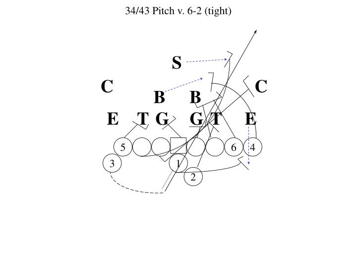 34/43 Pitch v. 6-2 (tight)