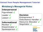 extract from people management tutorial