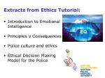 extracts from ethics tutorial