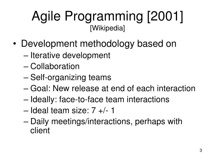 Agile programming 2001 wikipedia