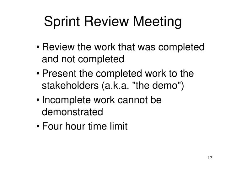 Sprint Review Meeting