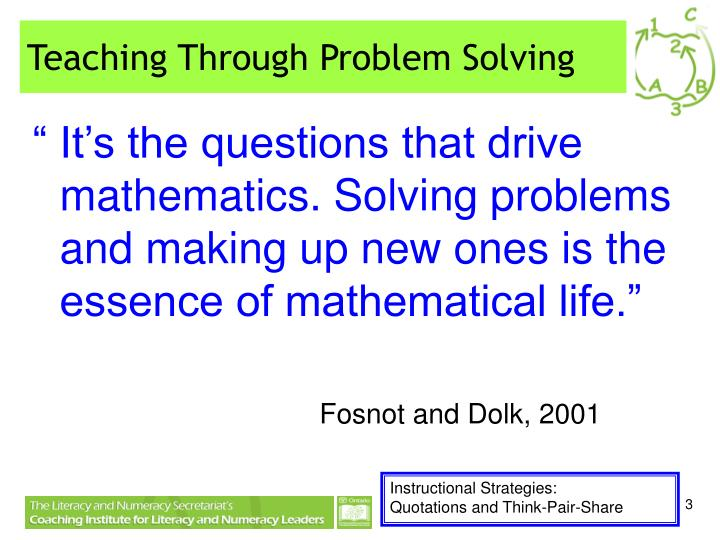 Ppt Teaching Mathematics Through Problem Solving Sonja Karsh Amp