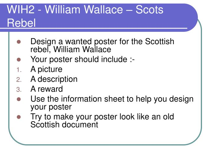Wih2 william wallace scots rebel