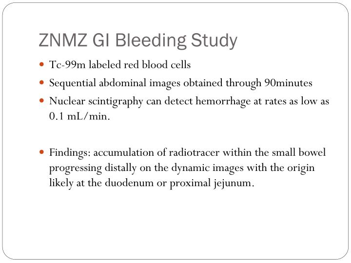ZNMZ GI Bleeding Study