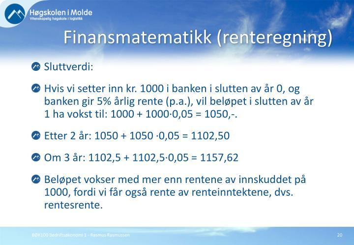 Finansmatematikk (renteregning)