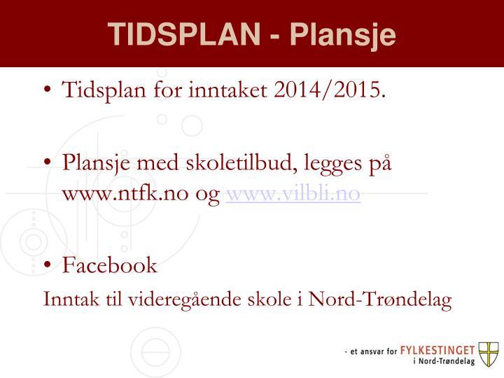 TIDSPLAN - Plansje