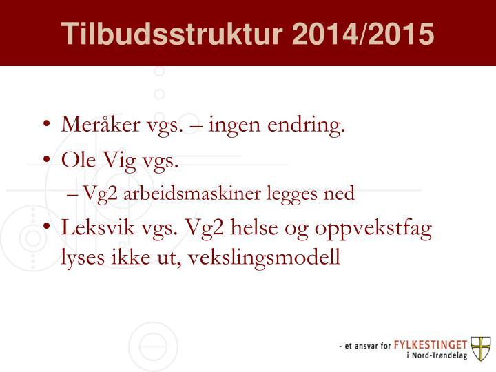 Tilbudsstruktur 2014 2015
