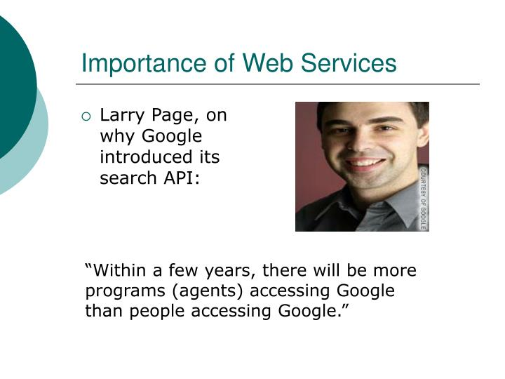 Importance of web services