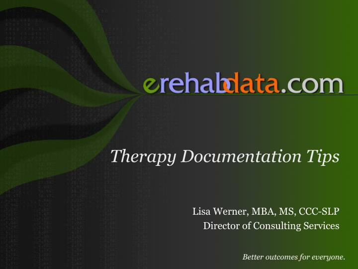 therapy documentation tips n.