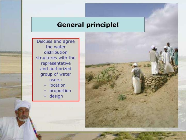 General principle!
