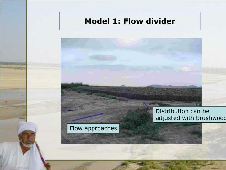 Model 1 flow divider