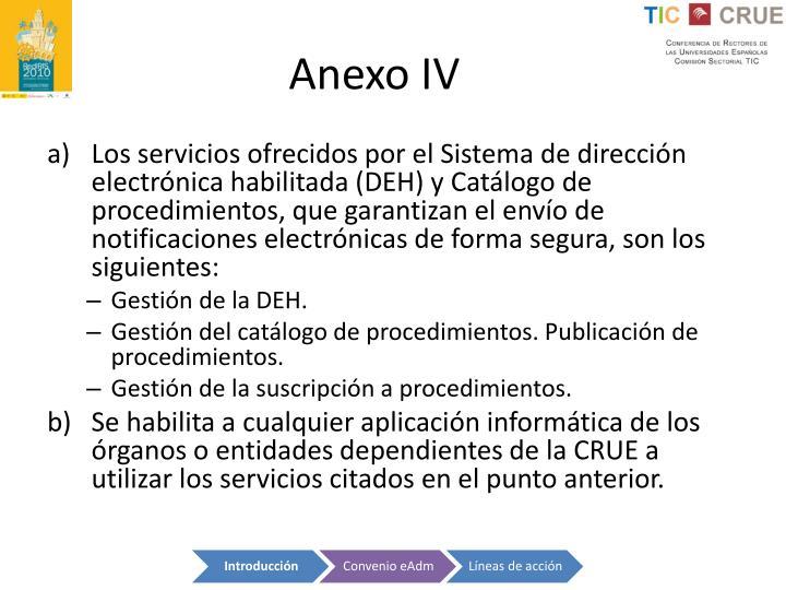 Anexo IV