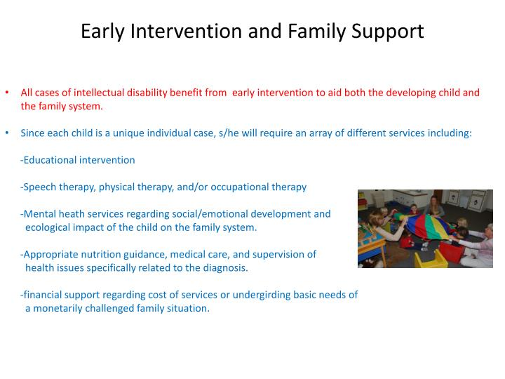 Early Intervention and Family Support