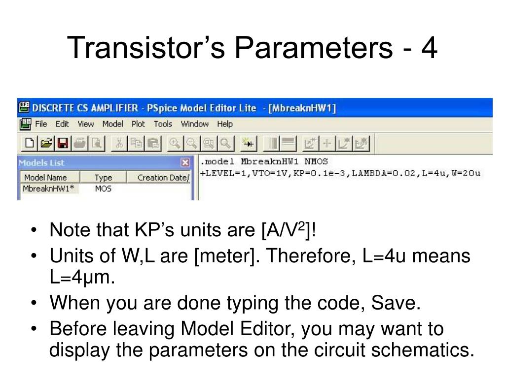 PPT - PSPICE Tutorial PowerPoint Presentation - ID:3125451