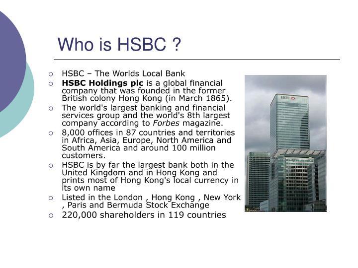Who is hsbc