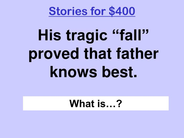 Stories for $400